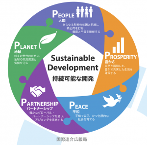 SDGs(持続可能な開発目標)を支える要素 5つのP